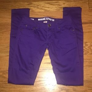 Mossimo Supply purple skinny pants